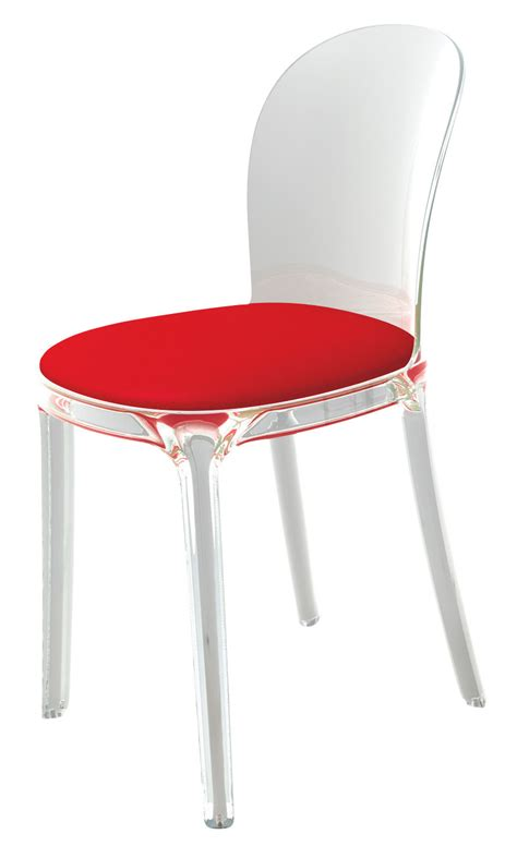 Clear Chair - vanity chair padded chair transparent polycarbonate
