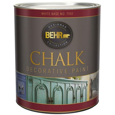 behr  qt white interior chalk decorative paint