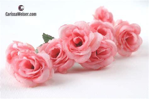 fake flowers silk flowers nine mini roses in peachy pink small flowers