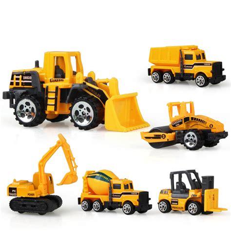 Mainan Die Cast Mini Contruction Car 4pcs sale 6pcs set diecast mini alloy construction vehicle toys engineering car dump truck model