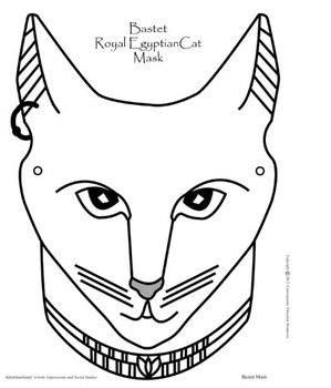 ancient masks template bastet ancient cat mask subject ancient