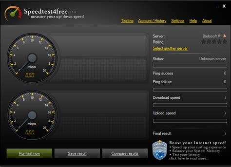 sed test speedtest free speed ping test software