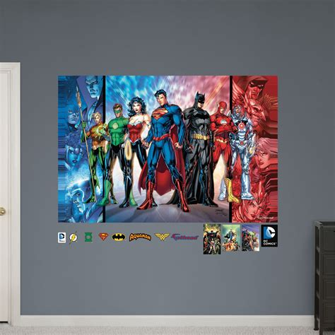 justice league wall stickers justice league mural realbig wall decal