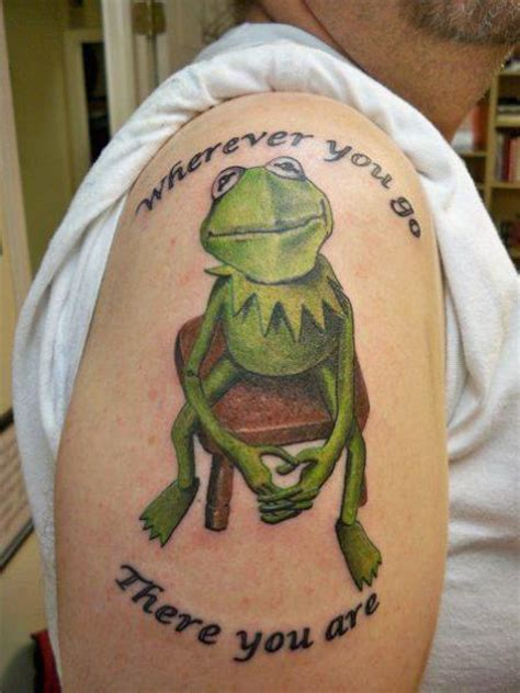 lucky draw tattoo shoulder character frog by lucky draw tattoos