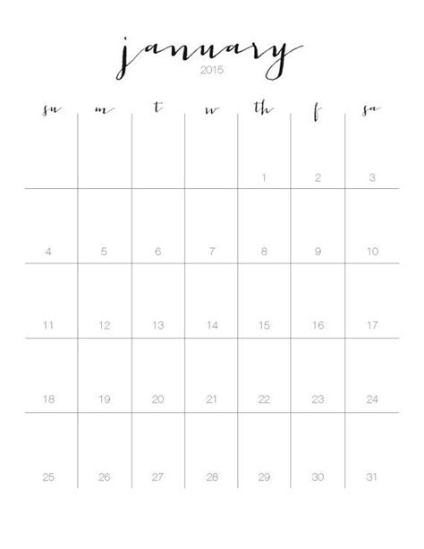 printable wall planner 2015 free 2015 printable monthly wall calendar instant by