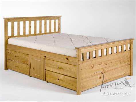 King Bed Storage Frame by Verona Ferrara Pine 2 Side Storage King Size Pine Bed Frame