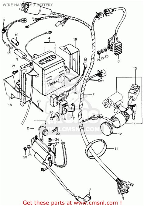 honda ct trail  usa wire harness battery buy wire harness battery spares