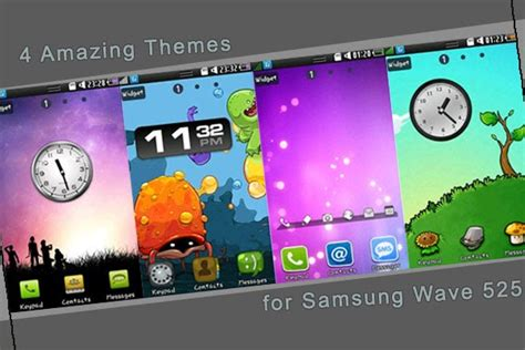 themes for samsung galaxy wave 525 my wave 525 4 amazing themes for samsung wave 525