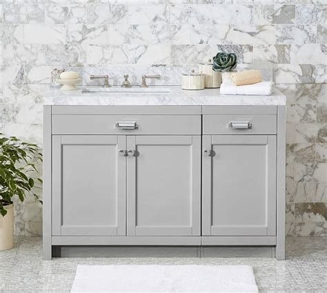 Wide White Carrara Single Console