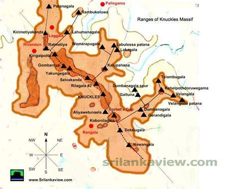 range map srilankaview maps of knuckles mountain range of sri lanka