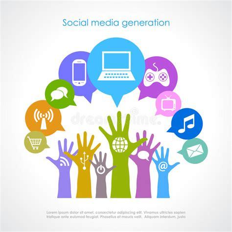 design poster social media social media poster stock vector illustration of