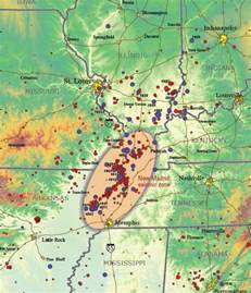 new madrid seismic zone earthquake hazard article and map