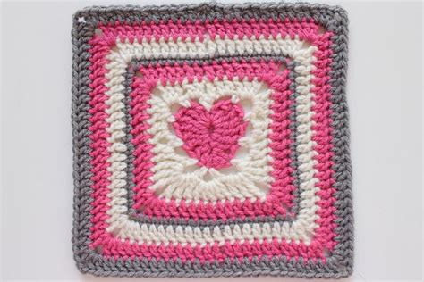 pattern for heart granny square heart afghan square crochet squares pinterest