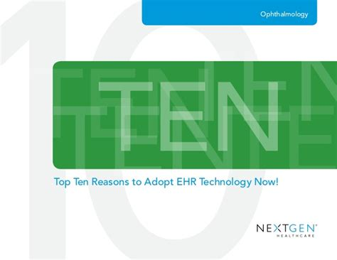 Ebook Your Next Great Stock ebook top ten reasons to adopt an ehr now ophthalmology