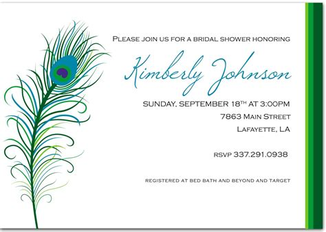 Peacock Themed Wedding Invitations Template Resume Builder Peacock Bridal Shower Invitations Templates
