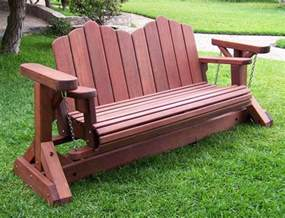 outdoor swing bench redwood glider swing bench heavy duty