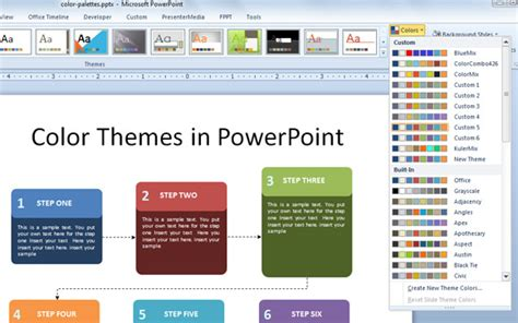 Working With Custom Color Palettes In Powerpoint 2010 Powerpoint 2010 Themes