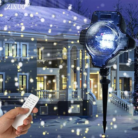 christmas falling snow projectors zinuo snowfall projector ip65 moving snow outdoor garden laser projector l