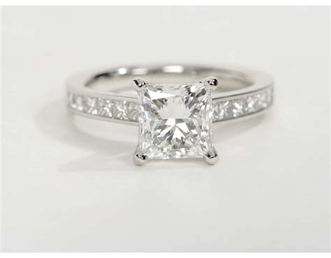 2 1 carat princess cut channel set