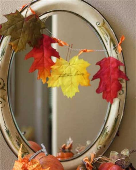easy to make fall decorations leafing fantastic diy fall leaf decor b lovely events