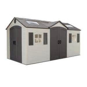 lifetime 15 ft x 8 ft door storage shed 60079