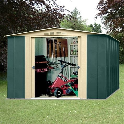 Garden Shed Metal by Metal Apex Garden Shed 10 X 8ft In Green And Homegenies