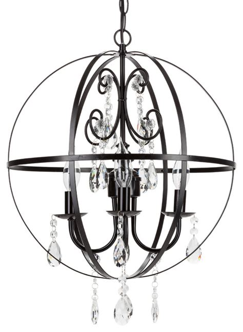 wrought iron orb chandelier 4 light wrought iron orb chandelier black