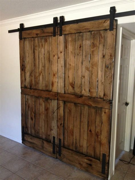 Kitchen Islands Pinterest by Knotty Alder Double Sliding Barn Door Porter Barn Wood