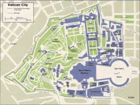 map of vatican city state within the city of rome
