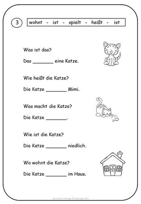 printable english worksheets for beginners simple texts and worksheets for beginners german