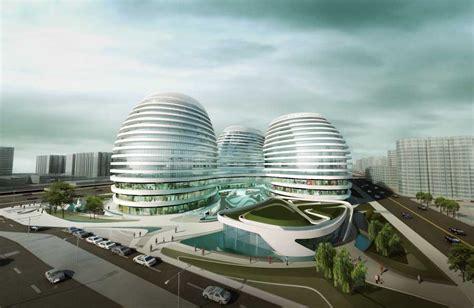 Futuristic House Floor Plans by Galaxy Soho Zaha Hadid Beijing China E Architect