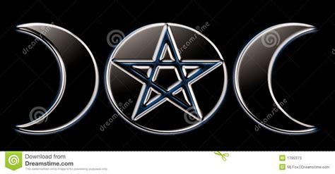 imagenes de simbolos gitanos fases paganas de la luna negro o fotos de archivo