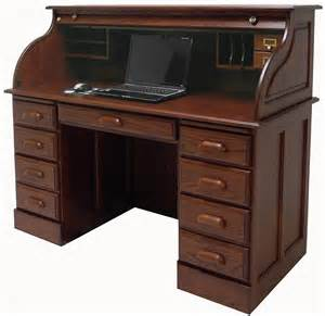Oak Roll Top Computer Desk 54 1 2 Quot W Deluxe Solid Oak Roll Top Desk W Laptop Clearance