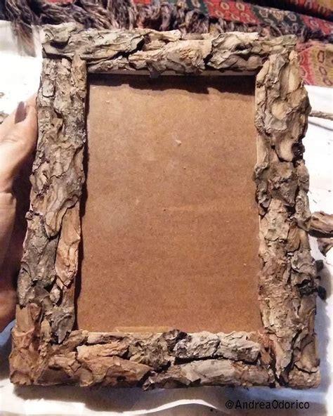 cornici fatte a mano cornice in legno con corteccia handmade frame in wood and
