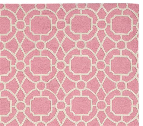 Preppy Trellis Rug Coral Pottery Barn Kids Pottery Barn Coral Rug