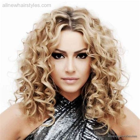 medium length hairstyles for permed hair loose spiral perms for medium hair allnewhairstyles com