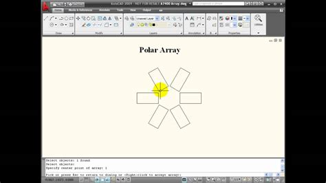 command pattern video tutorial autocad tutorial using the array command youtube