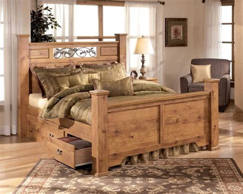 rustic pine bedroom furniture bedroom rustic bedroom design with brown pine wood bed
