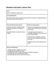 How To Design A Lesson Plan Template by Design Blended Learning Lesson Plans