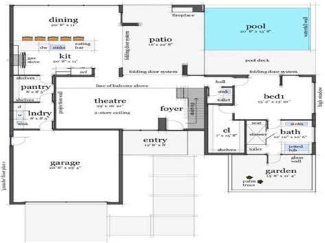 modern concrete home plans modern concrete house floor plans