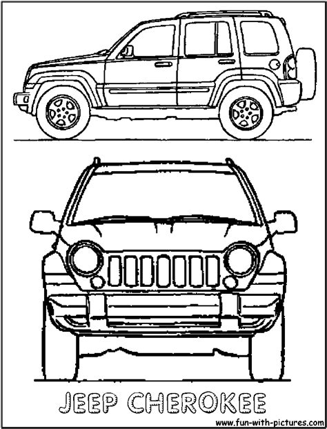 coloring pages jeep grand cherokee jeep grand colouring pages