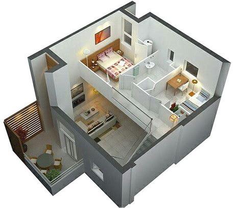 denah rumah sederhana  lantai  kamar tidur  denah
