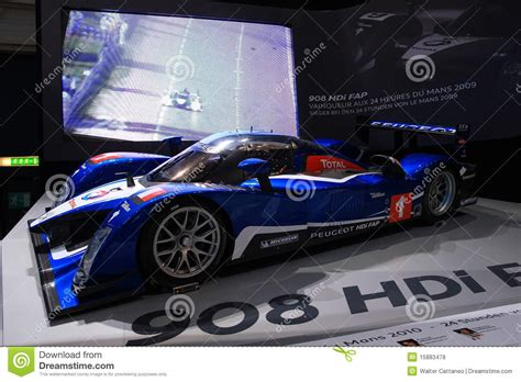 peugeot series peugeot 908 hdi le mans series editorial stock photo