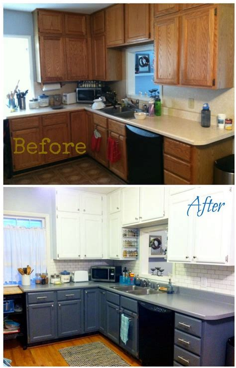 Paint Formica Kitchen Cabinets Painting Formica Kitchen Cabinets Before And After Cabinet The Best Home Improvement Ideas