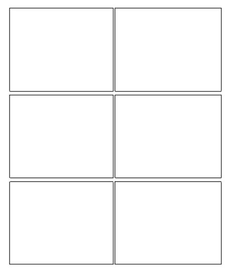 comic book template 6 box comic strip template growing a