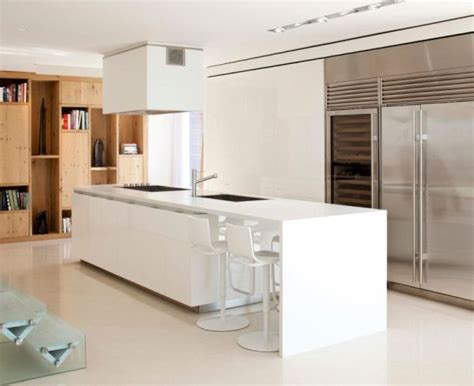 modern kitchen islands modern kitchen island in white decoist