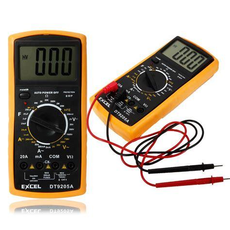 Digital Multitester Multimeter Dt 9205e excel dt9205a digital multimeter lcd ac dc automatic range