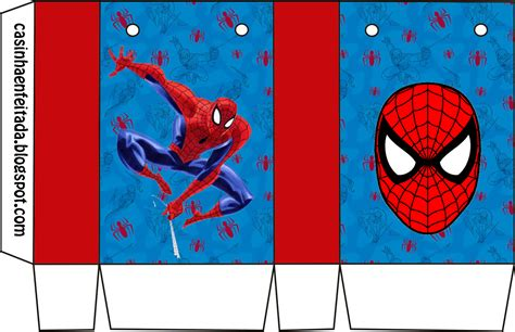 Spiderman blue background: Free Printable Kit.   Oh My