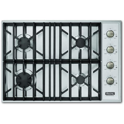 Viking 30 Cooktop viking vgsu104 4b 30 inch professional series gas cooktop with 4 burners stainless