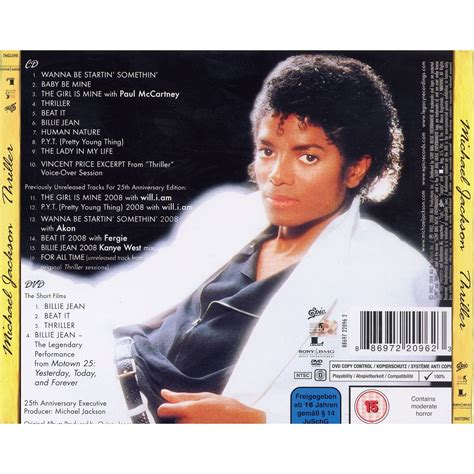 Thriller 25th Anniversary Edition Album Cover Michael Jackson Works With Akon Fergie William Kanye West For 212 Re Release by Thriller 25th Anniversary Edition Retailer Michael